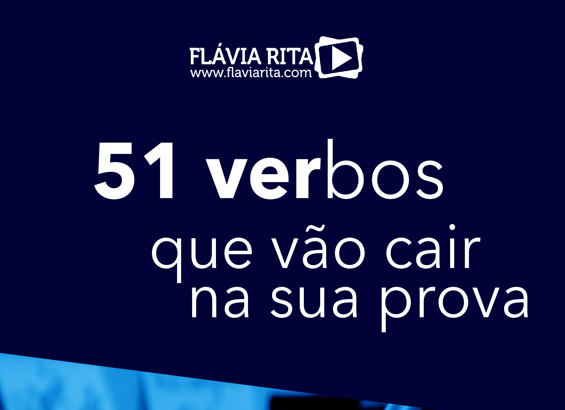 E-book 51 verbos que vão cair na sua prova