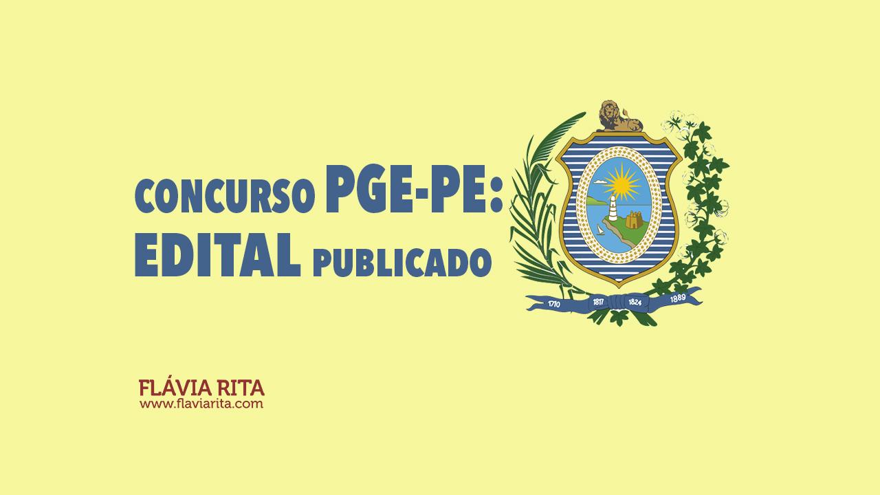 Concurso PGE-PE: divulgado edital. Mais de 80 vagas e remuneração até 4 mil!