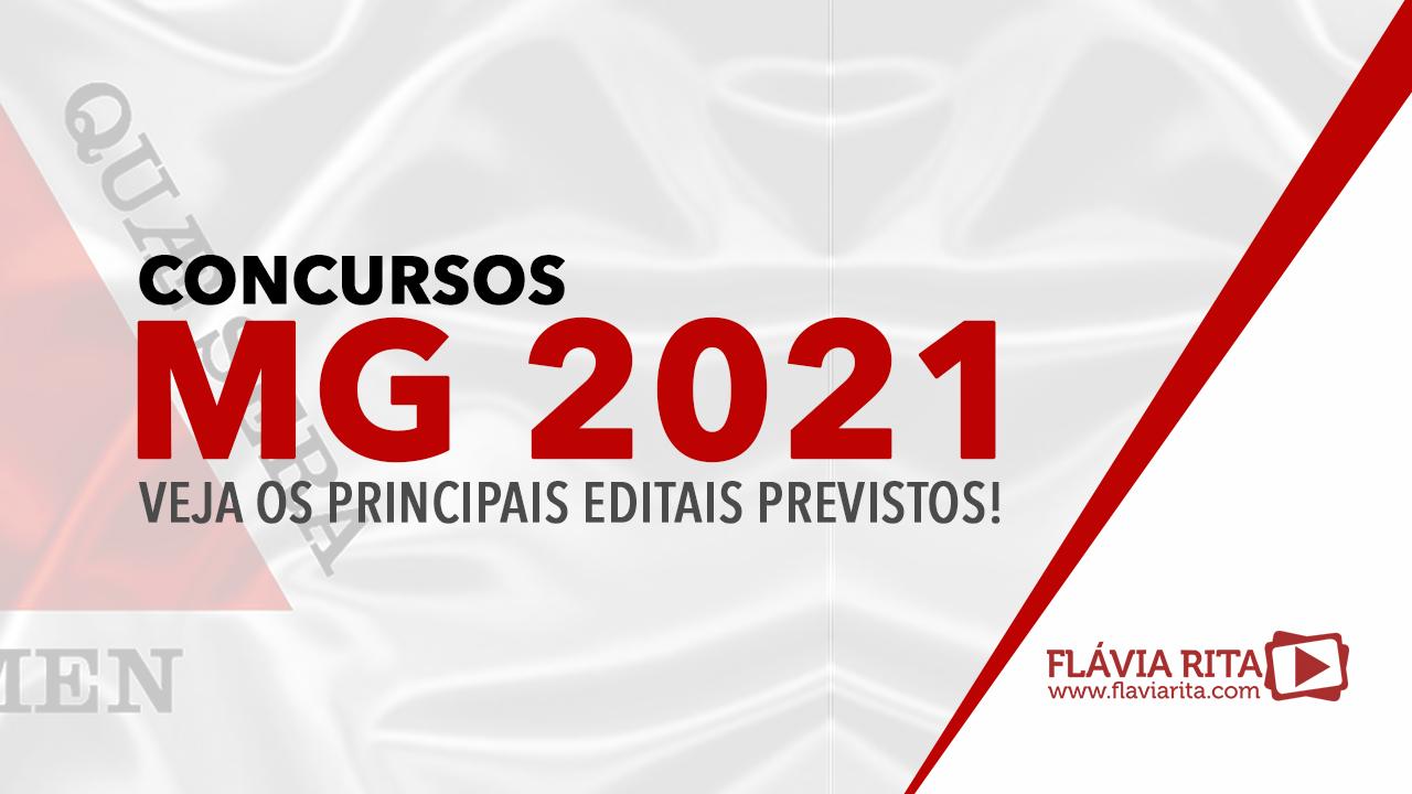 Concursos MG 2021: veja os principais editais previstos!