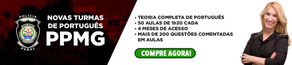 Banner Novas Turmas de Português para PPMG