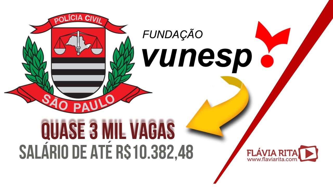 Concurso PCSP: VUNESP é a organizadora. Edital iminente e 2.939 vagas!